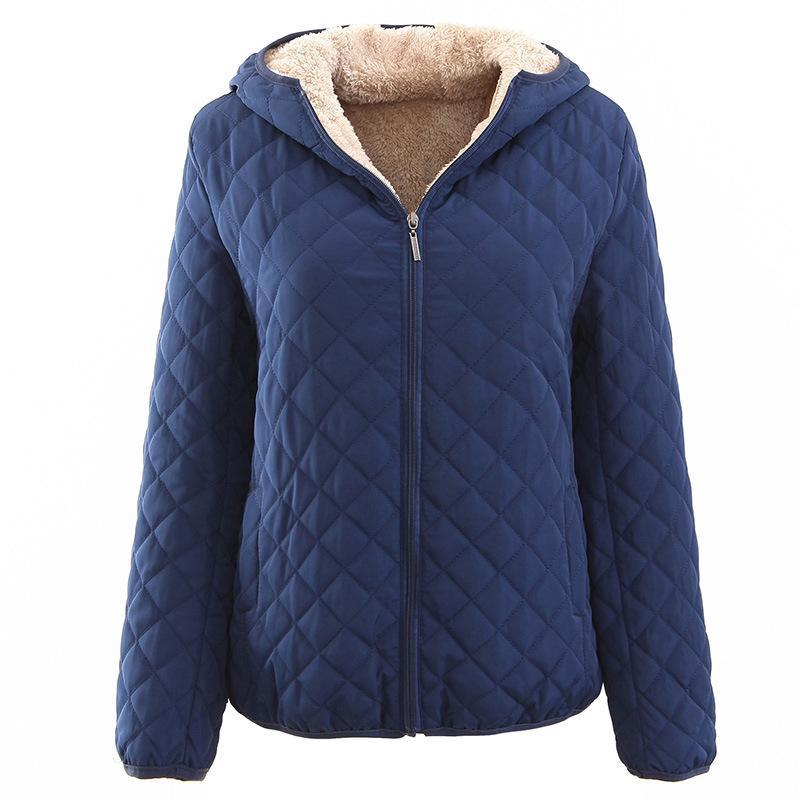 Johnature 2019 İlkbahar 10 Renk Kadınlar Temel Ceketler Coat Kadın Fermuar Fleece Kadınlar Bezleri Gevşek Parkas Artı boyutu Kalite Parkas V191025