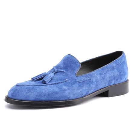 Mens Loafer sapatos de couro genuíno de luxo artesanal Escritório de casamento formal do partido Original design retro personalizados calçados casuais