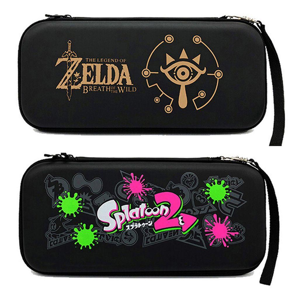 تخزين حقيبة اكسسوارات لعبة الملونة واقية حقيبة محمولة كبيرة للتخزين للتبديل Nintendoswitch NS