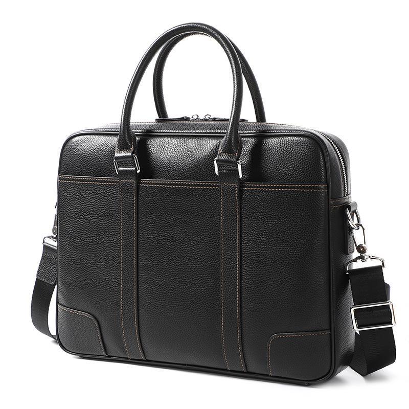 Bolsa masculina Seção Masculina 2021 Bolsa Genuína Bolsa de Couro Computador Cross Bag Business Laptop Oujla