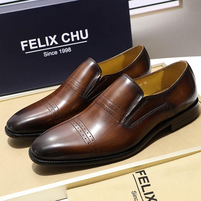2019 Brand New Mens Loafer Genuine Leather Black Brown Slip On Men Dress Shoes Designer Shoes Men High Quality Formal