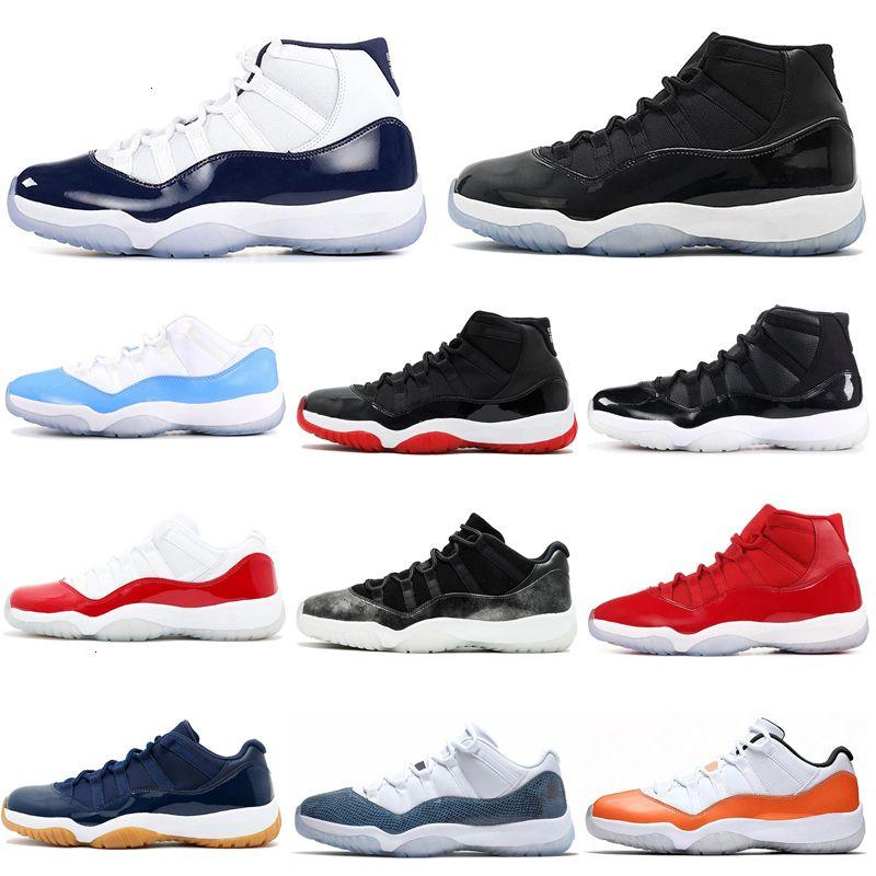 Concord 45 Snakeskin 11s uomini delle donne dei pattini di pallacanestro 11 Protezione Ed Abito arancione Trance Navy Gum formatori Mens Sneakers Sport 7-13