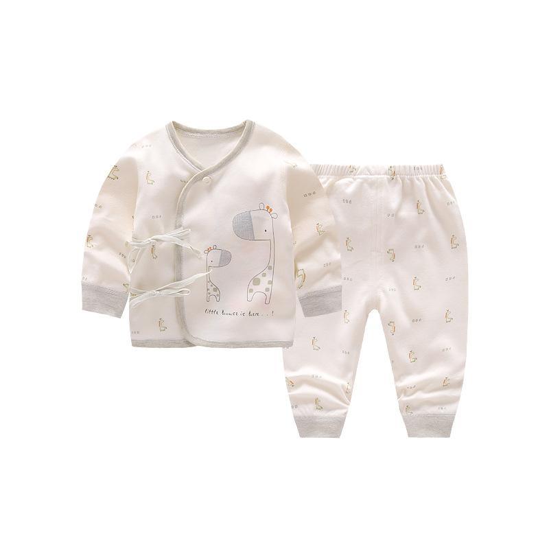 bébé nouveau-né Ceinture O-cou unisexe Vêtements mis coton manches pleine d'été Vêtements pour bébés prématurés Bébés filles garçons