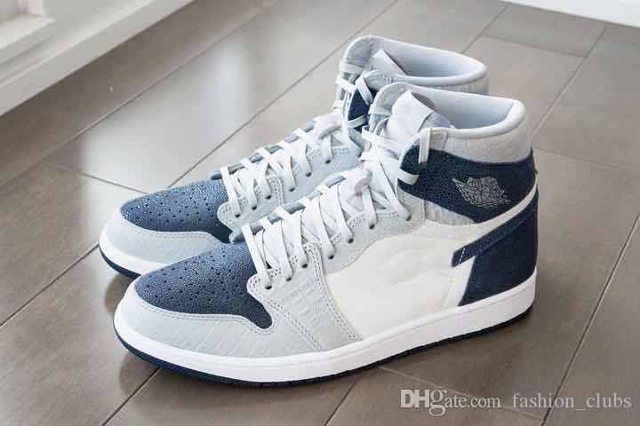 2020 الجديدة 1 1S PE جورج تاون Hoyas مصمم أحذية baskteball بولي الأبيض أزياء الرياضة وZapatos 1S أحذية رياضية مع مربع