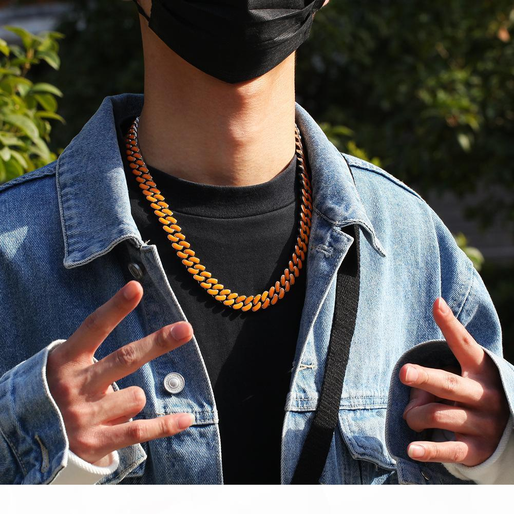 12MM Cuban Link Chain Luxury Mens Necklace Hip Hop Jewelry Men Designer Iced Out Gold Silver Rapper Chains Statement Necklaces Fashion Boy