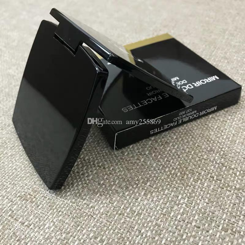 Fashion C Women black velvet set Cosmetic mirror Portable cosmetic mirror portable folding two-sided dual-use mirror gift box vip gift
