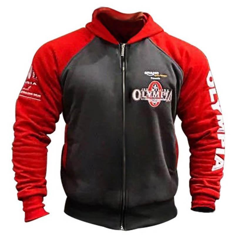 2021 Fitness Homme Mode Coton Zipper Top Mâle Manteau Olympia Bodybuilding Gyms Casual Sports Sweat-shirt Sweatshirts Marques UAQFG