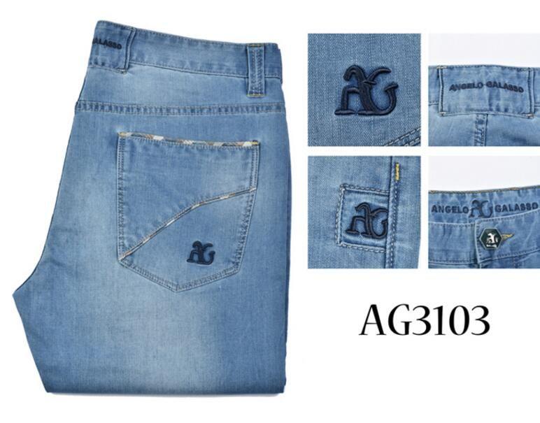 A * g Jeans Herren 2019 Sommer neue Mode lässig Stickerei Leder britischen bequem