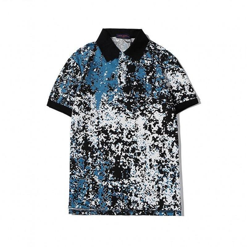 2020 Mens designer polo shirt brand printing Top t shirts for Italy Fashion polo shirt men High street Cotton tags Tops t shirts