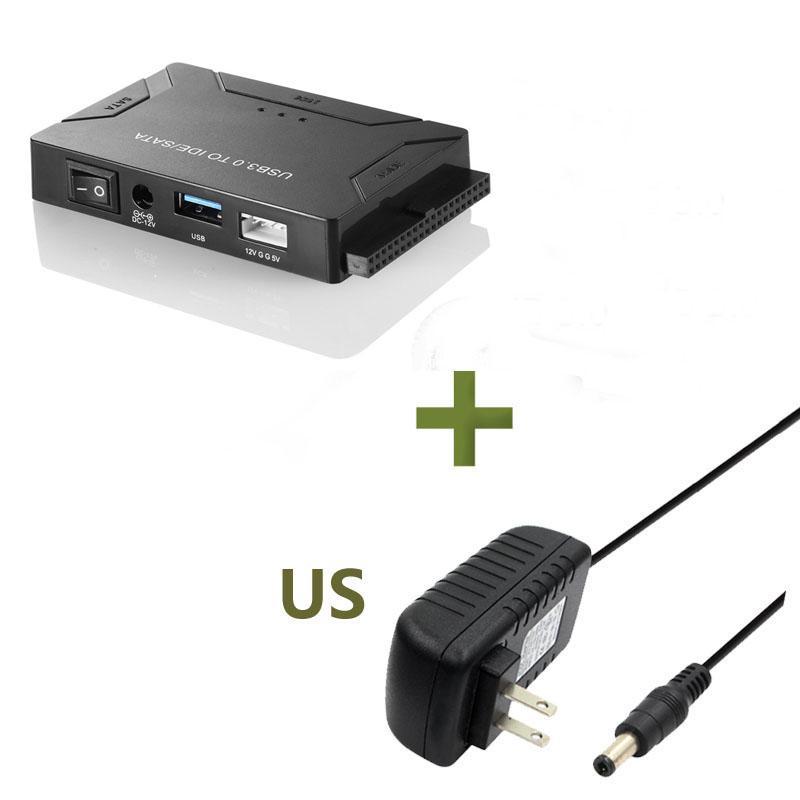 """USB 3.0 vers SATA IDE SATA Data Adapter 3 en 1 pour PC portable 2.5"""" 3.5"""" HDD Disque pilote de disque avec alimentation"""