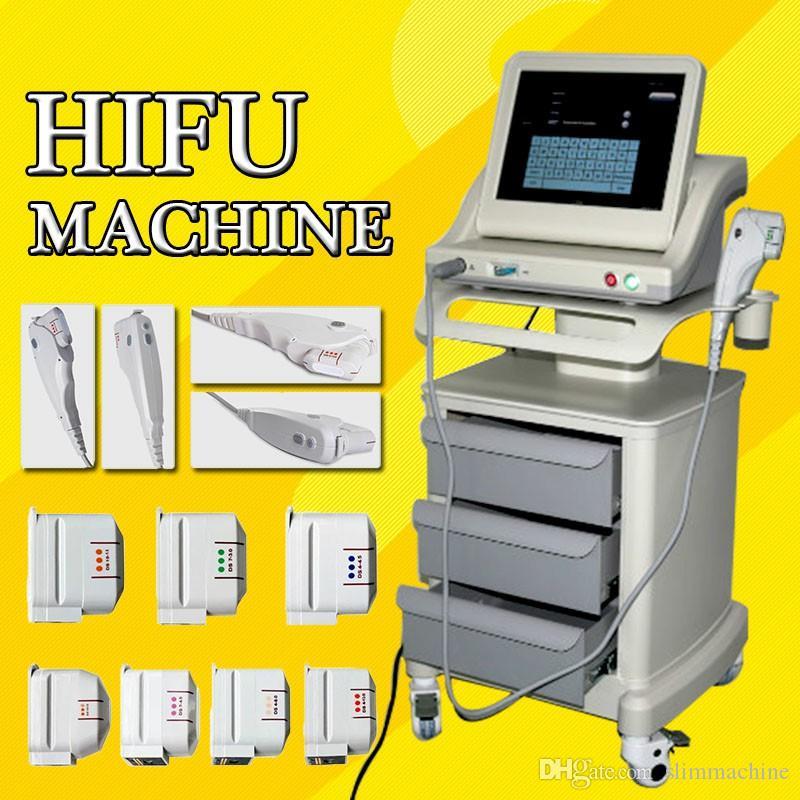 Taşınabilir kırışıklık giderme tedavisi hifu makinesi kilo kaybı yüz ve Vücut non-invaziv Anti-Aging Güzellik Makinesi için kırışıklık giderme