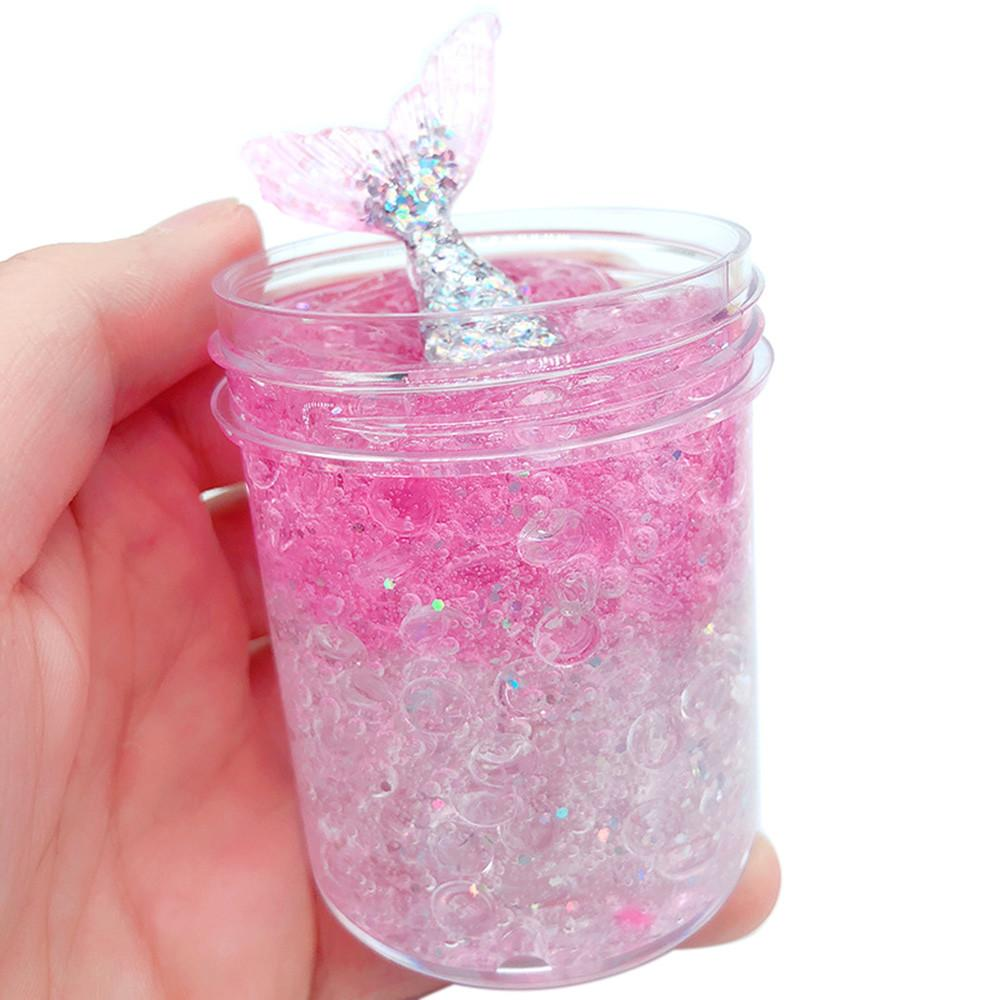 cabrito juega regalo de 120 ml de mezcla de lodo sirena estrés Nube limo perfumado niños de juguete para niños de Christamas regalo La arcilla Juguetes
