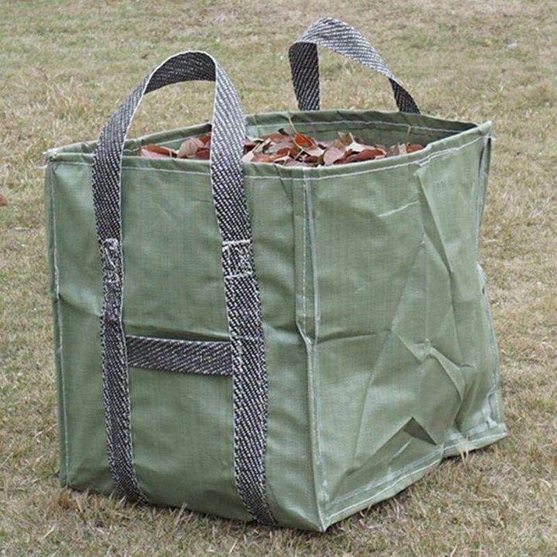 Sac de rangement pliable poubelle étanche PP jardin Sac pour la collecte des feuilles mortes, panier de stockage, sac de rangement, 2 paquets