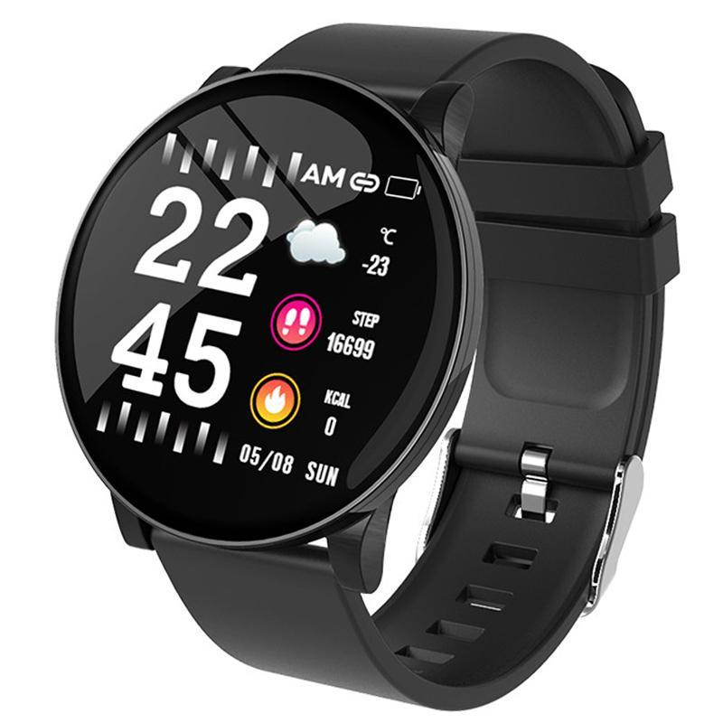 W8 Smart Bracelet Weather Forecast Blood Pressure Waterproof IP67 Fitness Tracker Music Control Smart Band New for iPhone