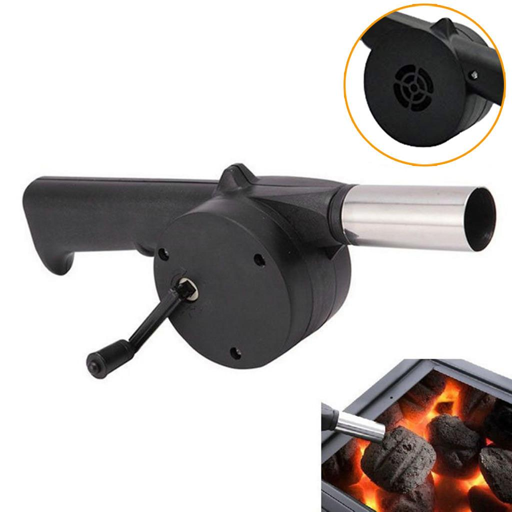 BBQ Tool Outdoor Hand Crank Powered Fan Air Blower For Picnic Barbecue Fire Equipment Hand Crank Powered Air Blowers Hand Barbec