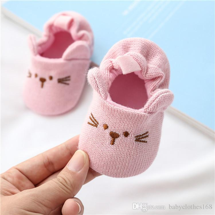 Autumn Winter Baby Shoes For Newborn Baby Boys Girls Cartoon Floor Socks Anti-Slip Baby Step First Walks Shoes Sock