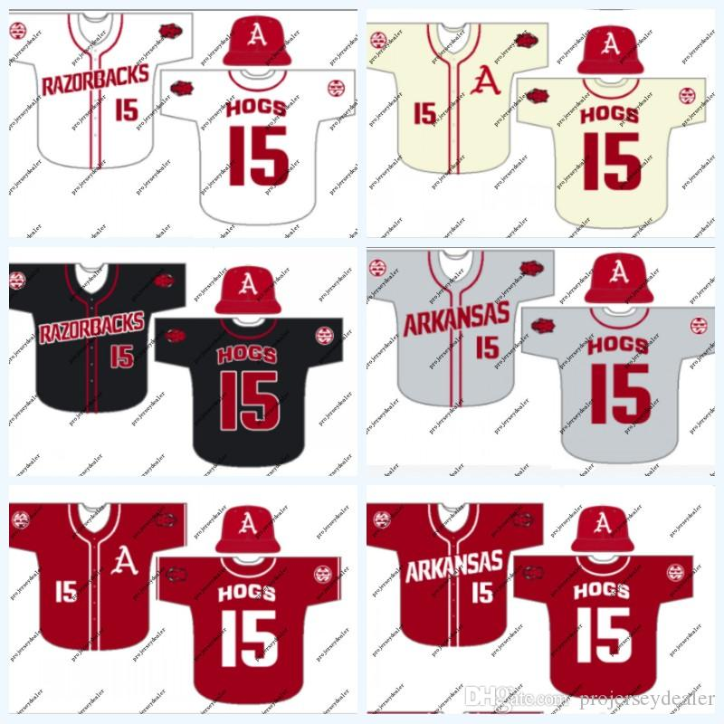 Arkansas 4 Trevor Ezell 16 Andrew Stanley 12 Casey Opitz 3 Zack Gregory 5 Jacob Nesbit Jack Kenley NCAA College Baseball Jersey
