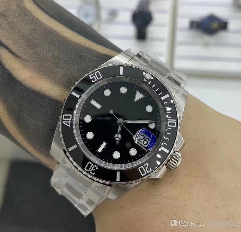 U1 Высокое Качество Черное автоматическое движение Мужчины Sub Band Dial Часы 316 Нержавеющие 2813 Мужские Часы UHIWQ