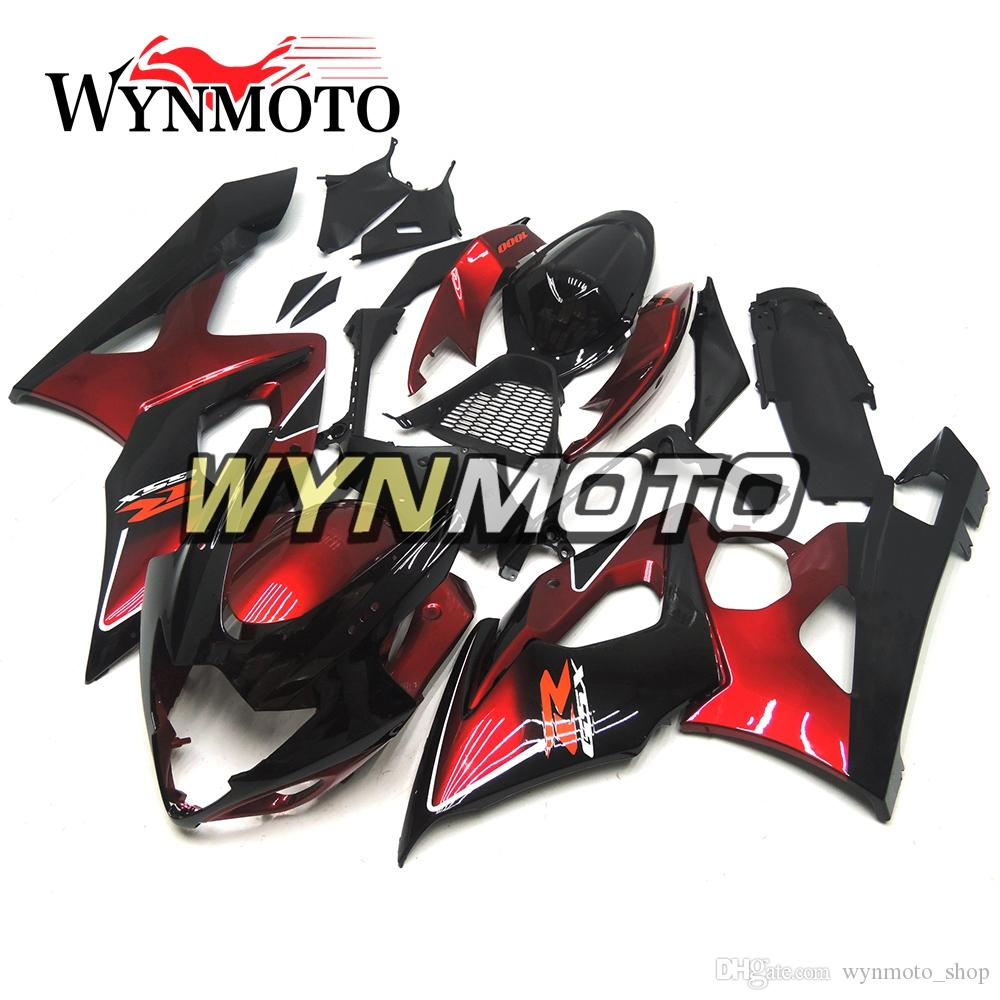 ABS Plastic Injection Motorcycle Fairings For Suzuki GSXR1000 K5 2005 2006 Black Red Kits gsxr 1000 05 06 motorbike Covers cowlings