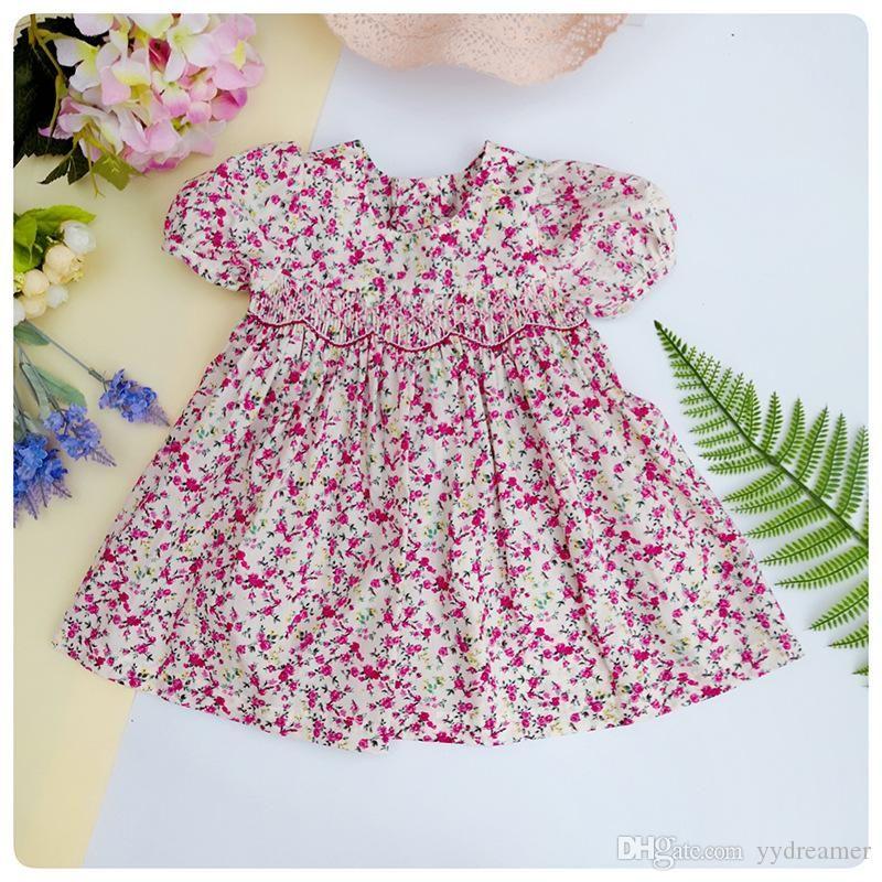 yürümeye başlayan kız tasarımcı Bebek Kız Giyim için kızlar sukienki için parti düğün zarif büzgü çiçek elbiseler için önlüklü elbiseler giyim