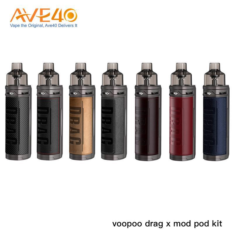 Original VooPoo Drag X Kit 18650 Mod Kit 4.5ml Drag X Cartridge Compatible With Voopoo PnP Coils
