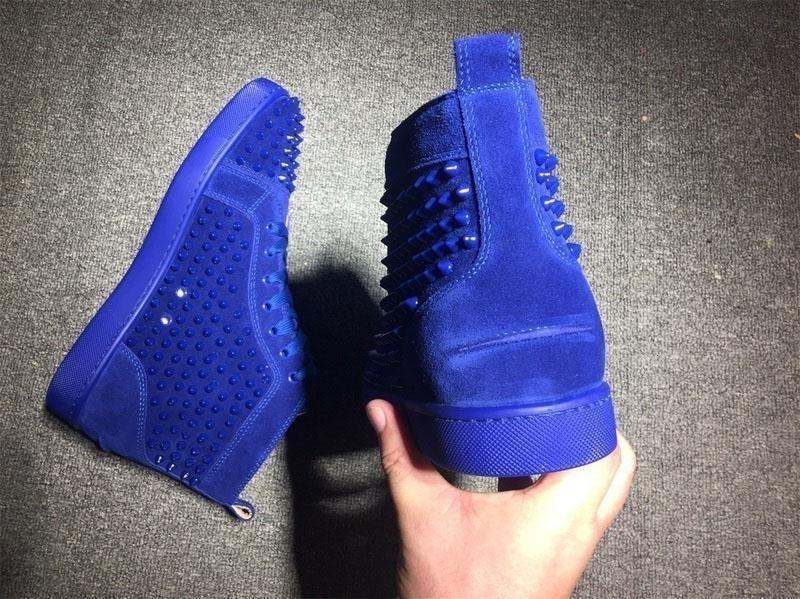 Дизайн Люди Мода Повседневная обувь Red Bottom Sneaker Luxury Party Свадебная обувь Спайк кожаные Louisfalt Шипы шнуровке Повседневная обувь на плоской подошве