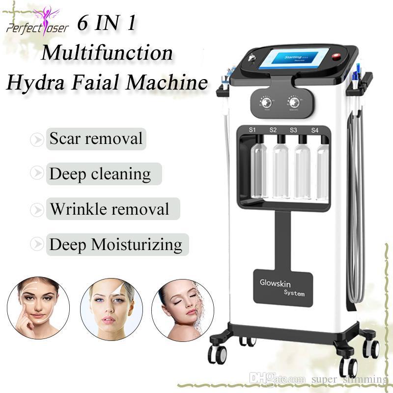 Hydrafacial 수력 박피술 피부 청소 기계 마 펜 흉터 제거 수력 얼굴 바이오 RF 얼굴 리프팅 히드라 기계