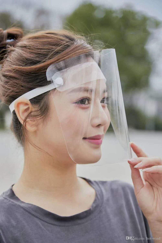 DHL de envío EN LA ACCIÓN! Transparente máscara protectora completa mascherine ajuste careta de protección para los adultos de lluvias niño que monta la cara cubierta de envío gratis