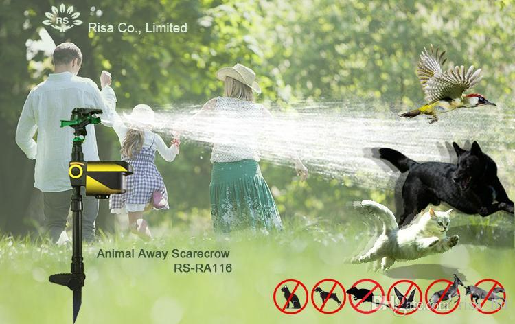 Risa Aktif Hareket Sensörü Su Yağmurlama Hayvan Kovucu Insancıl Uzak Korkutmanın Güvenli Yolu Vahşi Hayvanlar, Kediler, Köpekler, Kuşlar, Squirre