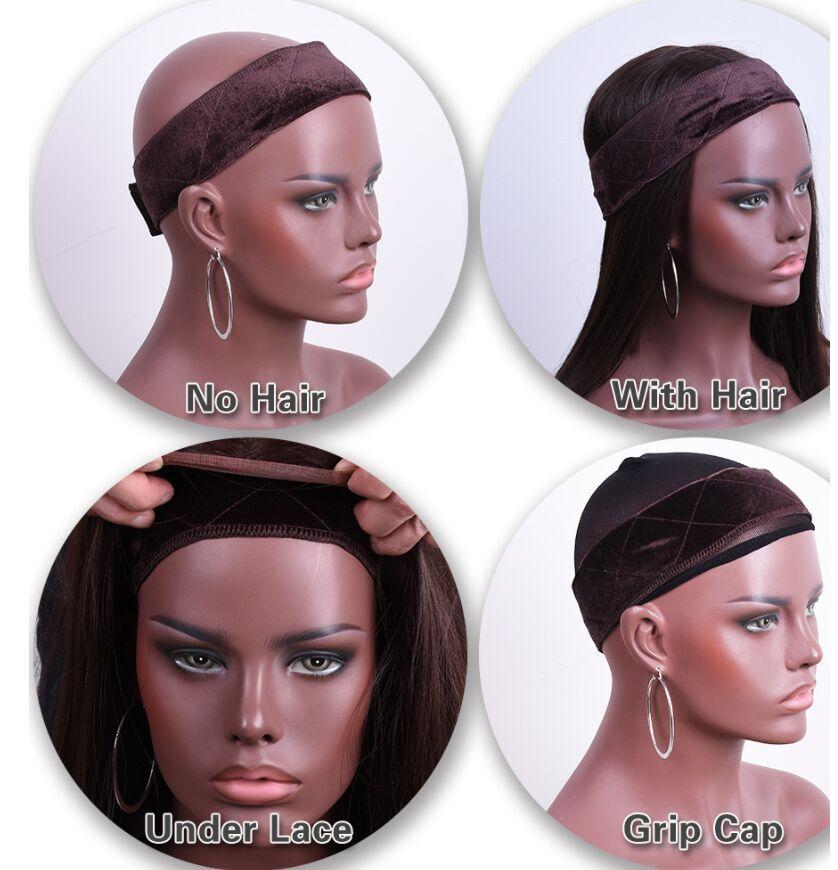 Hot vendendo mulheres headbands cabelo falso com veludo cabeça moda peruca girp faixa de cabelo preço de fábrica