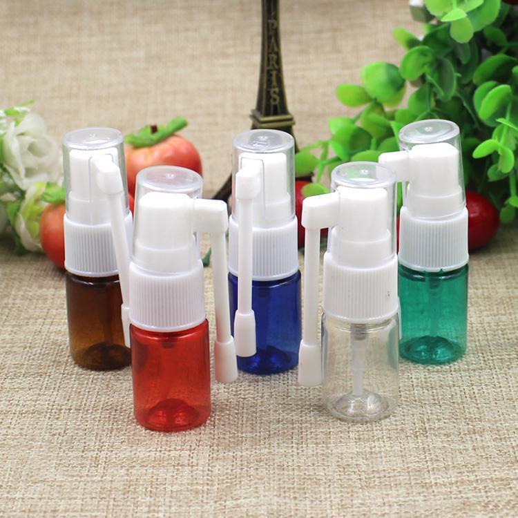 Оптово 5мл Небольшой образец Назальный спрей бутылки 360 градусов спрей косметической упаковки для бутылок Упаковка косметики Образцы