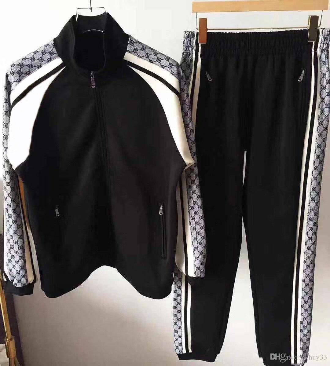 AA2019 Medusa spor erkek tam fermuar erkek spor takım elbise erkek kazak seti ve pantolon Medusa spor