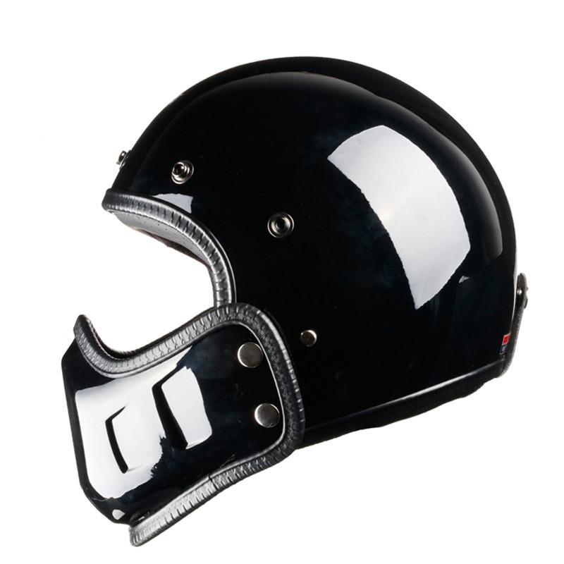 Motocross do vintage Capacete Da Motocicleta Retro Cafe Racer rosto Aberto rosto cheio casco moto modular moto capacete DOT