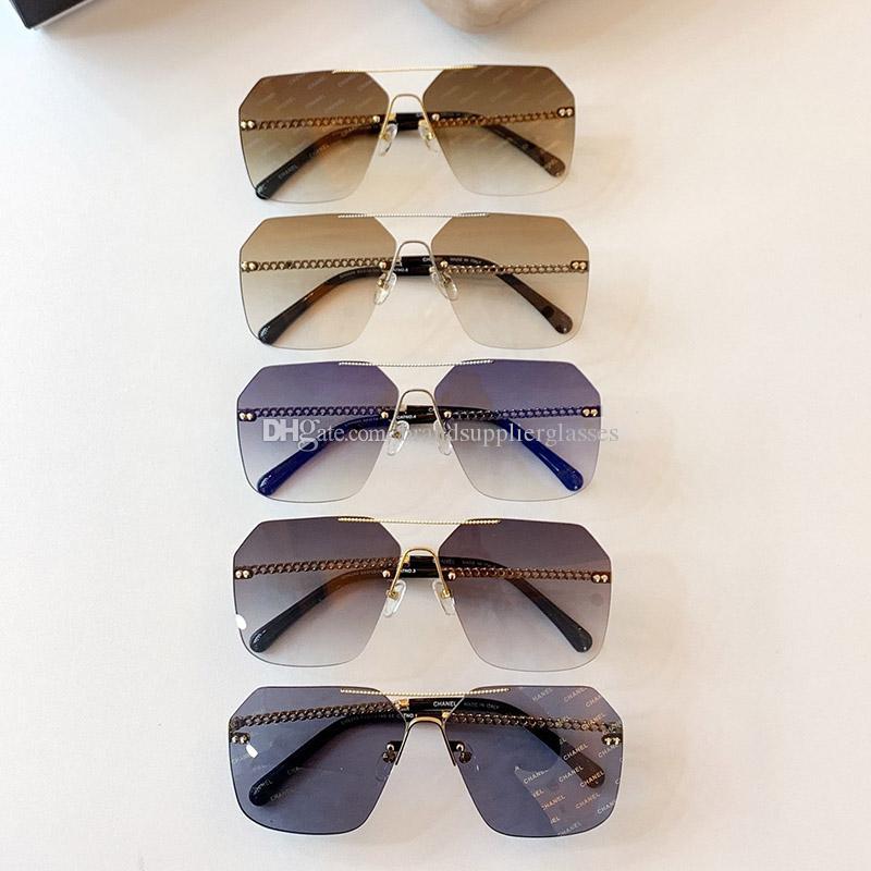 مصمم النظارات الشمسية للرجال عالية الجودة نظارات للنساء العلامة التجارية الفاخرة نظارات الشمس نظارات مصمم ديكورات 4249 سلسلة النظارات الشمسية