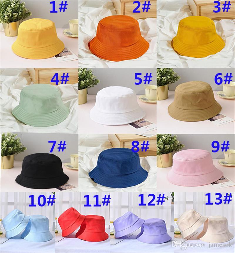 Унисекс Лето Складной Bucket Hat Женщина Открытый Солнцезащитный Хлопок Рыбалка Охота Cap Мужчины бассейн Вводная ВС Предотвратить Шляпы DA306