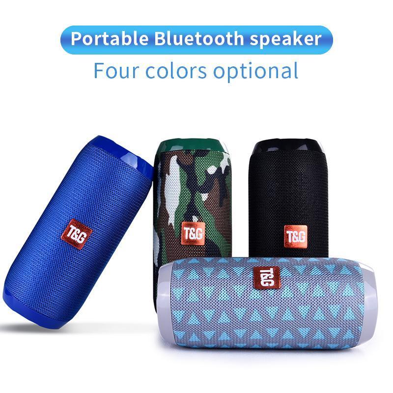 Tg117 Bluetooth Haut-parleur extérieur étanche Colonne sans fil haut-parleur portable Boîte support Tf Carte Fm Radio Aux Entrée T190704