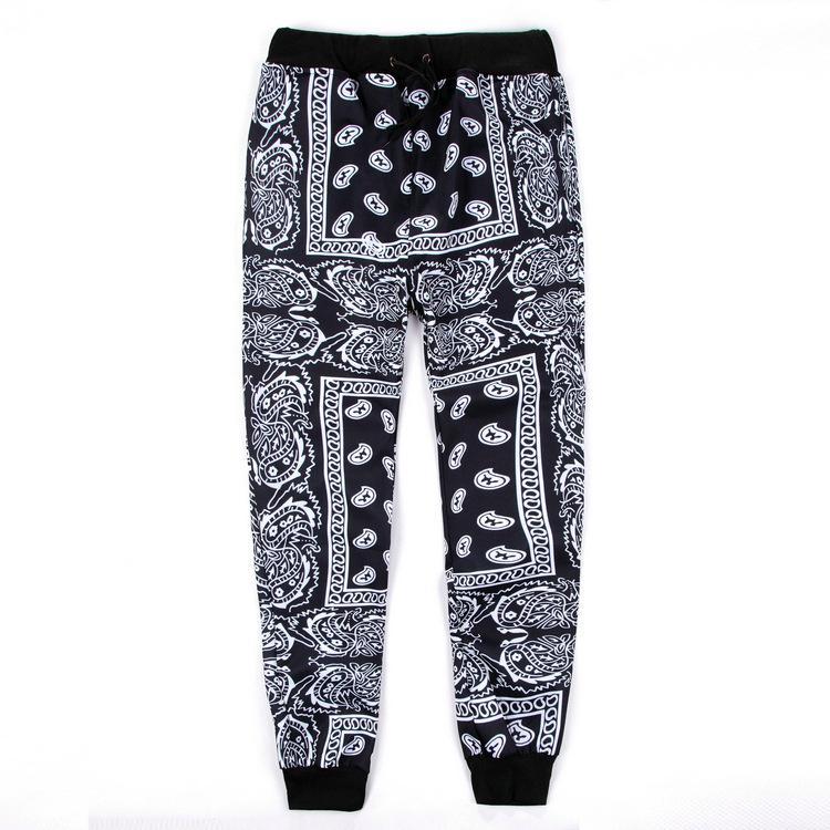 Новый дизайнер мужские бегуны спортивные штаны Хабар панталоны hombre красный синий бандана бегуны мужские брюки хип-хоп женские брюки уличная унисекс