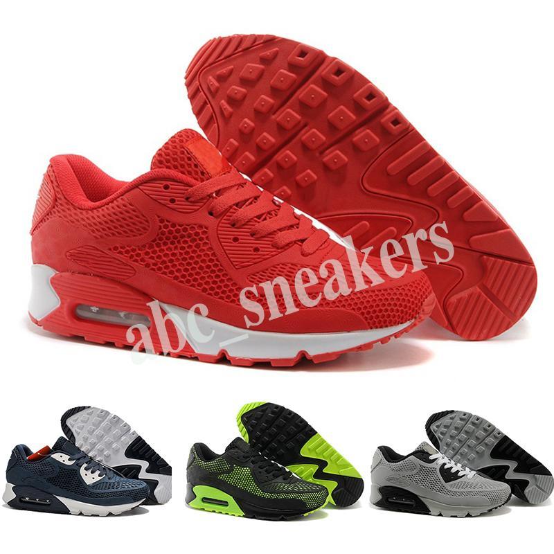 Nike Air Max 90 KPU 2019 горячая высокое качество Роликовая обувь подушка KPU мужская женская классическая обувь Мужская обувь 36-45 бесплатная доставка b03