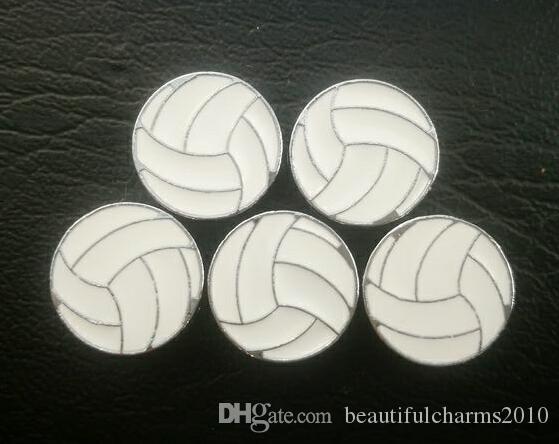 100 unids / lote 8 mm voleibol deporte deslizamiento encanto apto para 8 MM diy pulsera de cuero pulsera joyería de moda