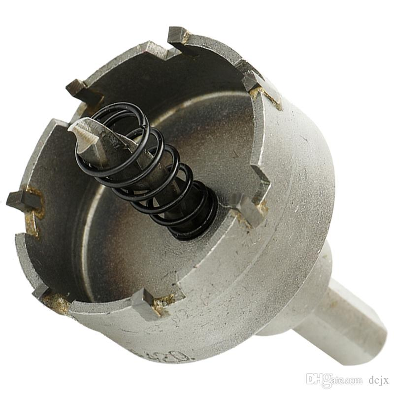 Freeshipping 10Pcs Carbide Tip Hss Drill Bit Saw Set Metal Wood Drilling Hole Cut For Installing Locks 16/18/19 /22 /25 /30/35 /42/50/ 53Mm