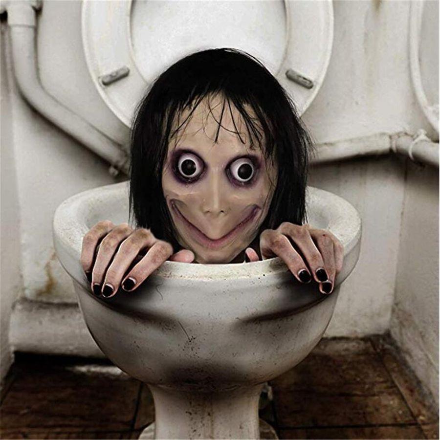 MUERTE JUEGO MOMO MASTORIA Mascaría Horror Máscara de látex Halloween Props Búsqueda Female Fantasma Festival Festival Partido Suministros JK1909