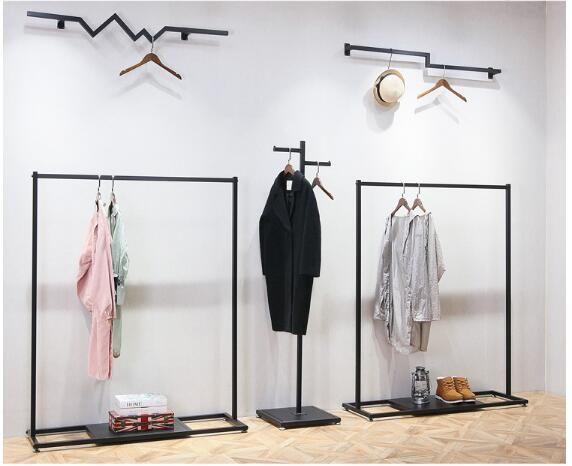 Estante de ropa Estantes de escaparate en tiendas de ropa para hombres y mujeres Estante de ropa colgado al frente Colgador de piso