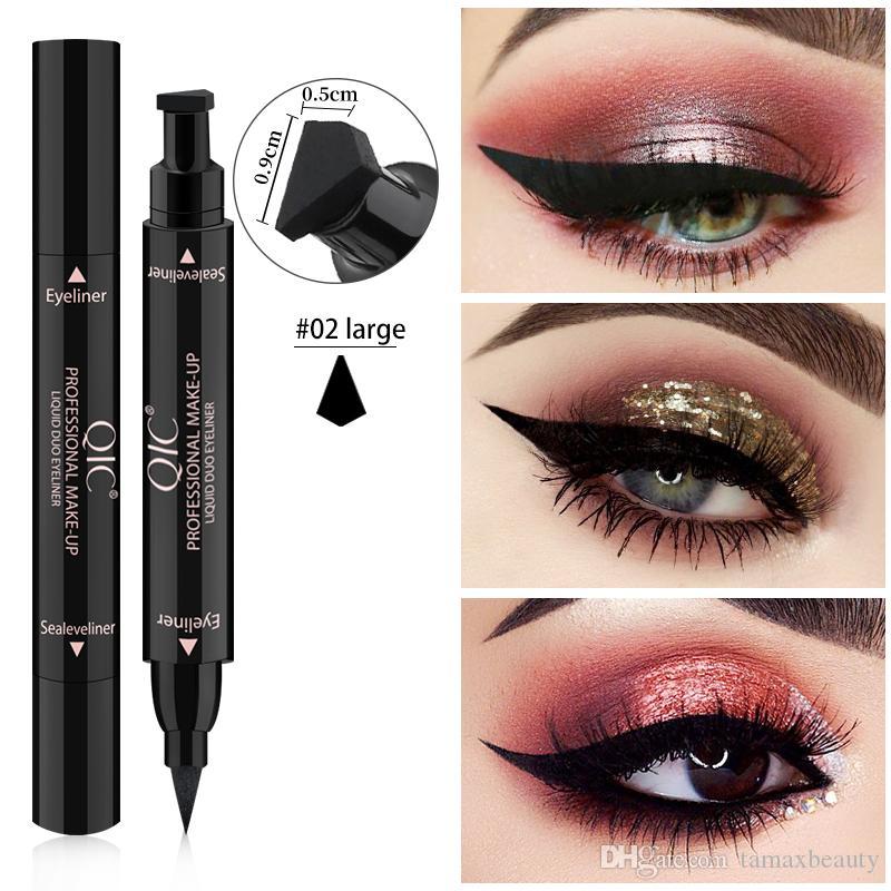 MP010 Professional Double-end Eyeliner Stamp Pencils Smooth Pigments Long Lasting delineador Waterproof Eye Liner Pen Cosmetics Makeup