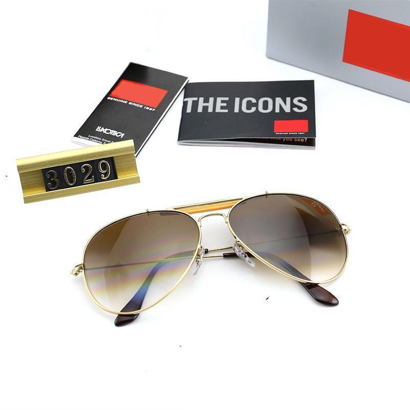 lunettes concepteur de marque hommes Outdoor lunettes de soleil 3029 amant mode lentille lunettes de soleil polarisées de conduite des cadres métalliques résistant aux UV