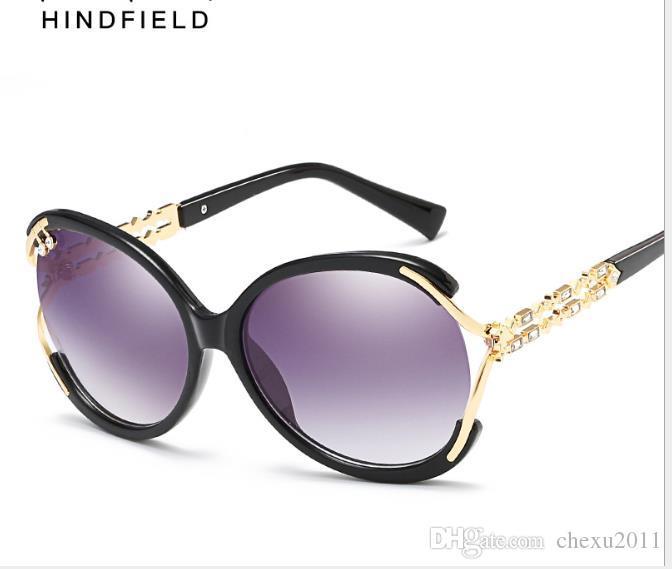 Fashion lady sunglasses European and American fashion clam glasses Fashion lady Sunglasses