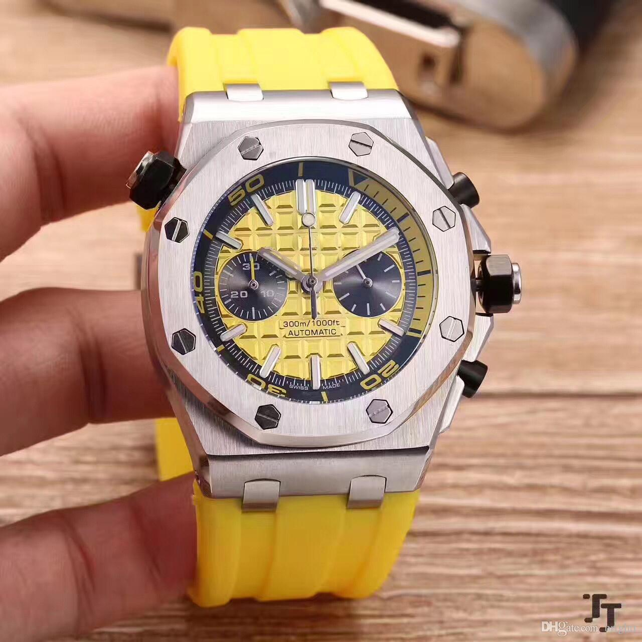 5 Color 2019 Hot Sale 망 Watch 자동 기계식 운동 ROYAL OAK series 망 Watch 15400 Stainless Steel 망 시계