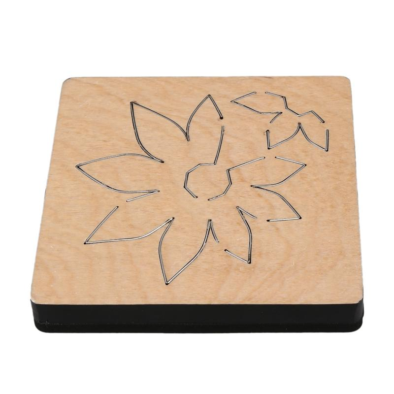 Folding Floret fai da te Dies stampo di legno di taglio per Scrapbooking Spessore