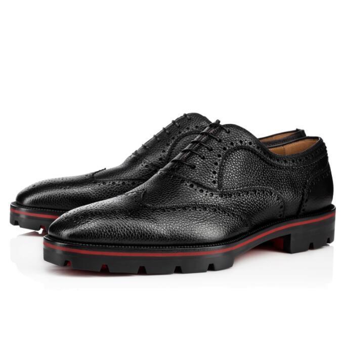 Vestido de caballero fiesta de la boda zapatillas Negro hombres del cuero genuino de Caminar famoso inferior rojo Charlie me Oxford Pisos