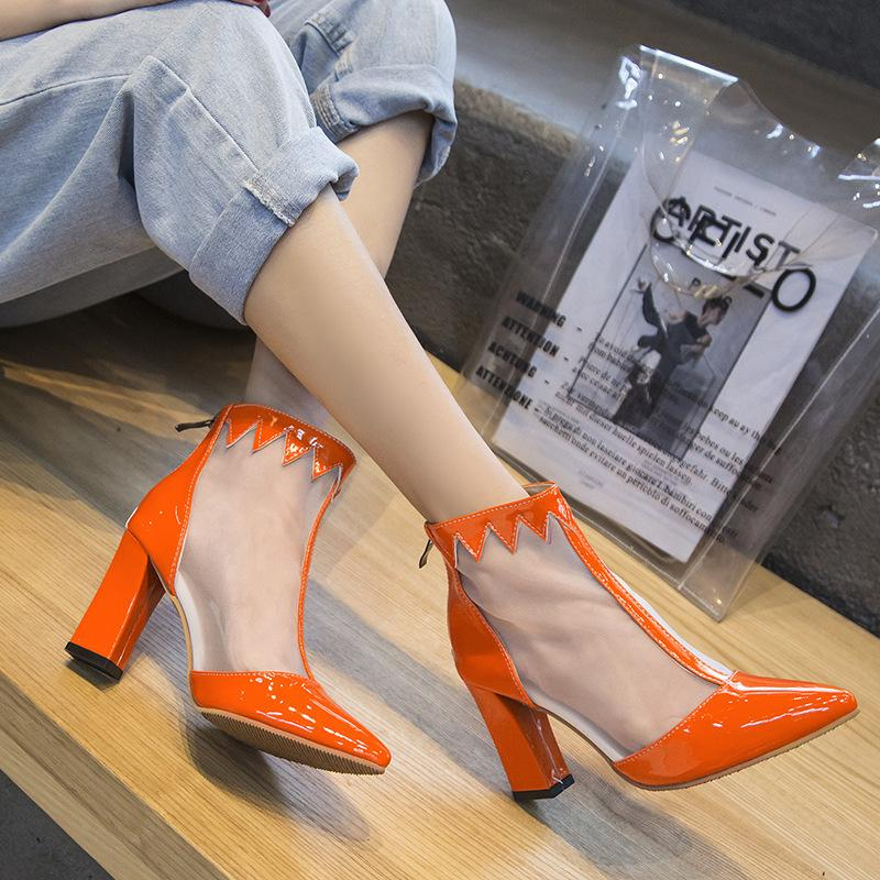 Sexy2019 Cool Crude Gauze Short Boots Will Hollow Out With Rome Sandals Woman High Help