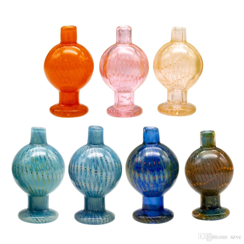 Neuer Entwurfs 25mm Farbige Quarz Banger Blase Carb-Kappe für Terp Perle Kugel Quarz Thermal Banger Nägel Dabber Glas Bongs Dab Bohrinseln